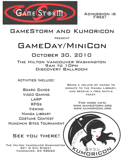 GameDay/MiniCon 2010 poster