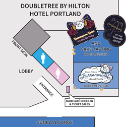 Events at DoubleTree by Hilton map